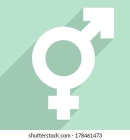 minimalistic illustration of a transgender symbol, eps10 vector
