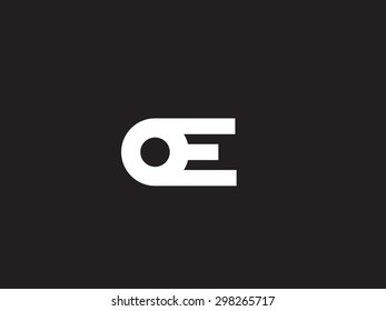minimalistic logo design template letter e creative logotype for your company vector business