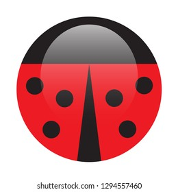 Minimalistic picture of coccinellidae. Icon for web and app. Vector