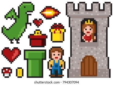 Ilustraciones Imágenes Y Vectores De Stock Sobre Pixel Art