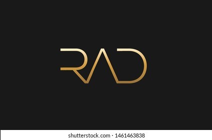 Minimalistic RAD design in gold colors