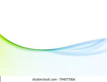 Minimalistic soft light abstract swoosh wave border layout. Vector illustration