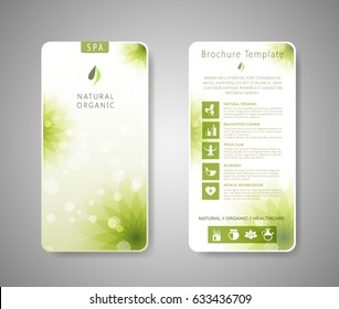 Minimalistic spa and healthcare design brochure. Creative flyer template