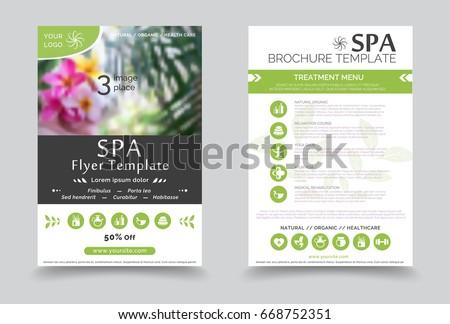 minimalistic spa and healthcare design brochure creative flyer template