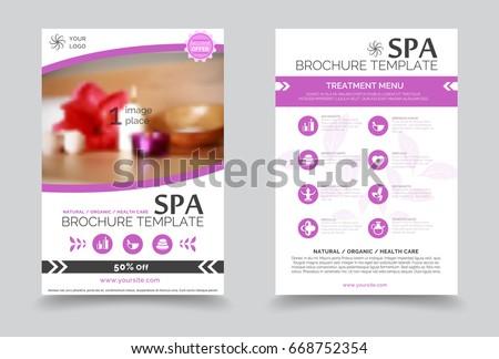 minimalistic spa healthcare design brochure creative stock vector