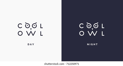 Minimalistic and stylish logo Owl. Modern typography and identity for your company.