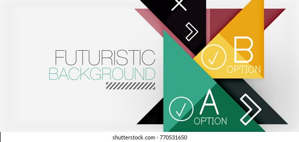 Minimalistic triangle modern banner design, geometric abstract background. Vector hi-tech futuristic