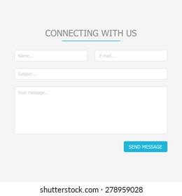 Minimalistic web feedback form for site design