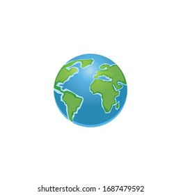 Minimalistic world map concept isolated on background. World planet, vector earth sphere illustration