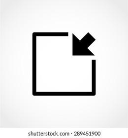 Minimize Arrow Icon Isolated on White Background