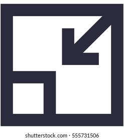 Minimize Vector Icon
