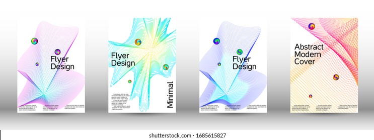 Minimum coverage of a vector. Cover design. Set of modern abstract musical backgrounds. Sound flyer for creating a fashionable  cover, banner, poster, booklet. - Shutterstock ID 1685615827