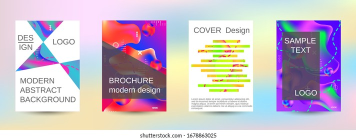 Minimum vector coverage. Artistic covers design. Creative fluid colors backgrounds.  Trendy creative vector cosmic gradient. Bright print.