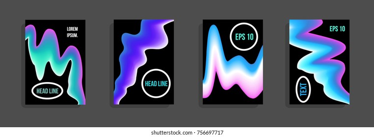 Minimum vector coverage. A set of modern abstract covers. Future futuristic template with abstract shapes for banner design, poster, notebook, book.Eps10.