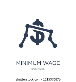 Minimum wage icon. Trendy flat vector Minimum wage icon on white background from Business collection, vector illustration can be use for web and mobile, eps10