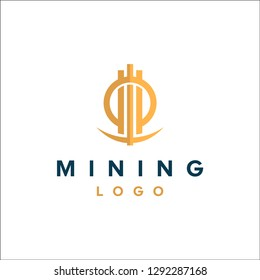 Mining logo - bitcoin altcoin cryptocurrency