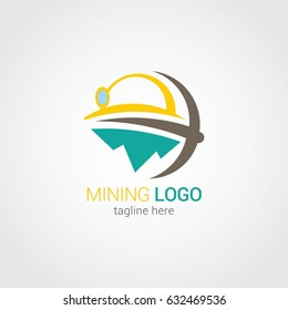 Mining Logo Design Template. Vector Illustration