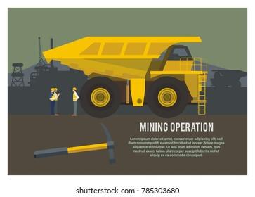 mining operation simple illustration