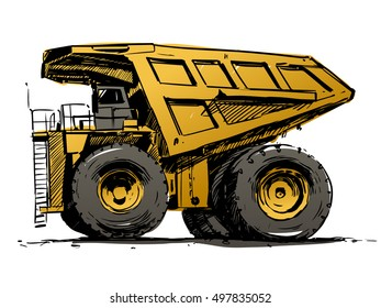 mining truck color sketch