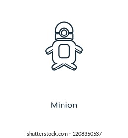 Minion concept line icon. Linear Minion concept outline symbol design. This simple element illustration can be used for web and mobile UI/UX.
