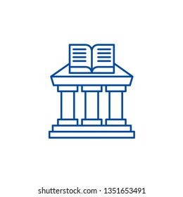 Ministry of education line icon concept. Ministry of education flat  vector symbol, sign, outline illustration.