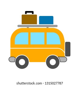 minivan icon - minivan isolated , family transportation illustration -Vector minibus