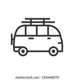 Minivan icon. Simple element illustration