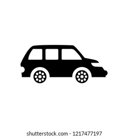 minivan icon. Trendy minivan logo concept on white background from Transportation collection. Suitable for use on web apps, mobile apps and print media.