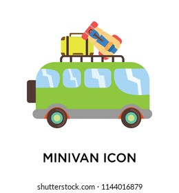 Minivan icon vector isolated on white background for your web and mobile app design, Minivan logo concept