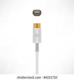 Mini-VGA plug & socket