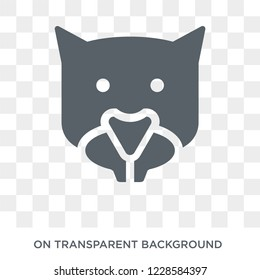 Mink icon. Trendy flat vector Mink icon on transparent background from animals  collection.