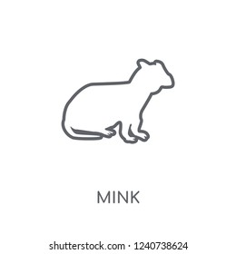 Mink linear icon. Modern outline Mink logo concept on white background from animals collection. Suitable for use on web apps, mobile apps and print media.