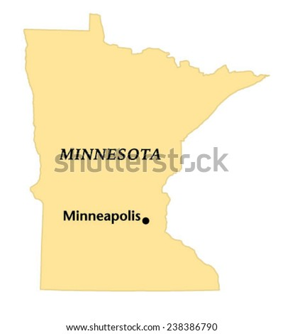 Minneapolis Minnesota Locate Map Stock Vector (Royalty Free ...
