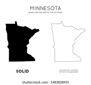 Minnesota map. Blank vector map of the Us State. Borders of Minnesota for your infographic. Vector illustration.