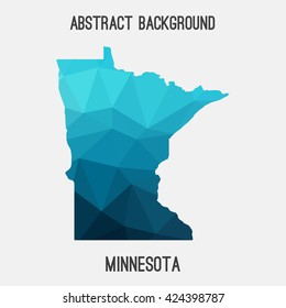 Minnesota map in geometric polygonal style.Abstract tessellation,modern design background. Vector illustration EPS8