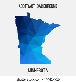 Minnesota map in geometric polygonal,mosaic style.Abstract tessellation,modern design background. Vector illustration EPS8