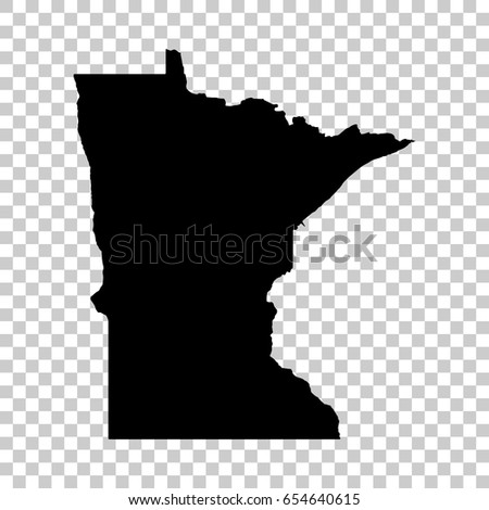 Minnesota Map Png.Minnesota Map Isolated On Transparent Background Stock Vector