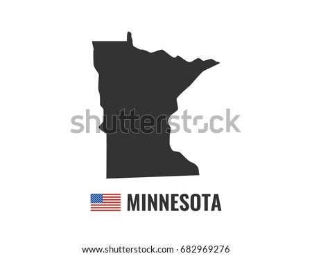 Minnesota Map Isolated On White Background Stock Vector (Royalty ...
