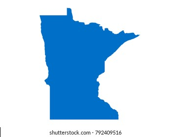 Minnesota map Sky Blue Tone vector isolated on white background vector EPS 10
