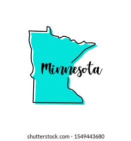Minnesota Map Vector Design Template