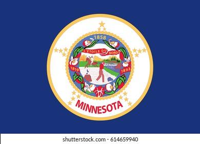 Minnesota State Flag. Vector illustration.