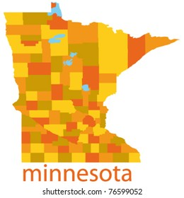 minnesota state map, usa