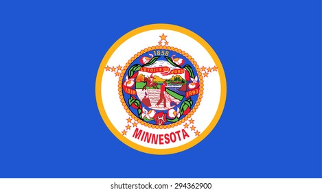 Minnesota state national flag. Vector EPS8