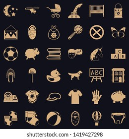 Minor icons set. Simple set of 36 minor vector icons for web for any design