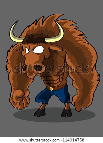 Minotaur Cartoon Stock Vektorgrafik Lizenzfrei 114014758