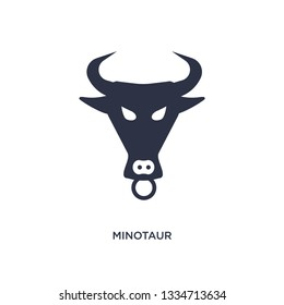 minotaur icon. Simple element illustration from greece concept. minotaur editable symbol design on white background. Can be use for web and mobile.