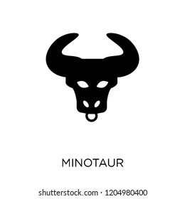 Minotaur icon. Minotaur symbol design from Fairy tale collection. Simple element vector illustration on white background.