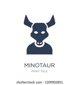 Minotaur icon. Trendy flat vector Minotaur icon on white background from Fairy Tale collection, vector illustration can be use for web and mobile, eps10