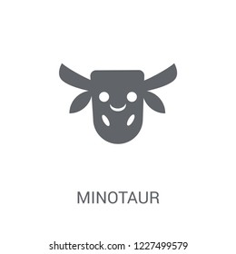 Minotaur icon. Trendy Minotaur logo concept on white background from Fairy Tale collection. Suitable for use on web apps, mobile apps and print media.