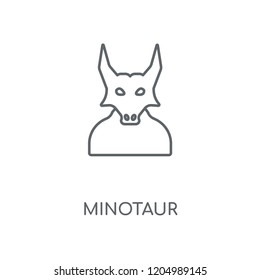 Minotaur linear icon. Minotaur concept stroke symbol design. Thin graphic elements vector illustration, outline pattern on a white background, eps 10.